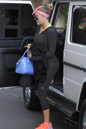 Khloe Kardashian Booty in Leggings - Out in Beverly Hills, March 2015