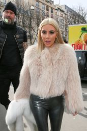 Kim Kardashian Dyed Her Hair - Paris, March 2015