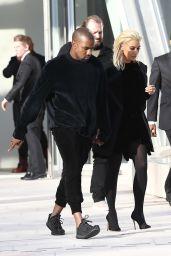 Kim Kardashian Goes Blonde - Out in Paris, March 2015