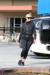 Kim Kardashian in Tights - Out in Calabasas, March 2015