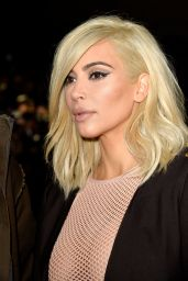 Kim Kardashian Is Blonde Now - Lanvin Fashion Show in Paris, March 2015