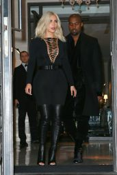 Kim Kardashian Leaves Her Hotel in Paris, March 2015