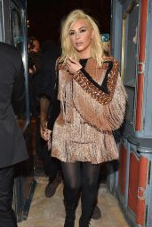 Kim Kardashian Night Out Style - Balmain Aftershow Dinner in Paris, March 2015