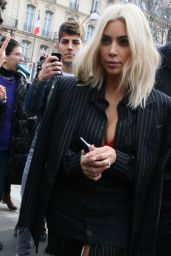 Kim Kardashian Street Fashion - Out in Paris, March 2015