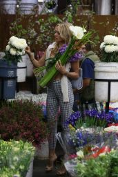 Kimberley Garner at a Flower Market in Los Angeles, March 2015