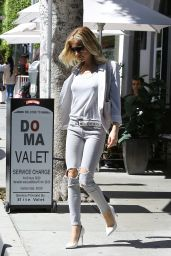 Kristin Cavallari Casual Style - Leaving a Restaurant in LA, March 2015