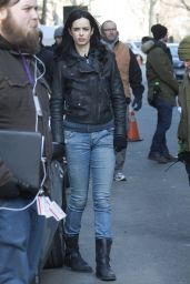 Krysten Ritter on the Set of A.K.A. Jessica Jones in New York City, March 2015