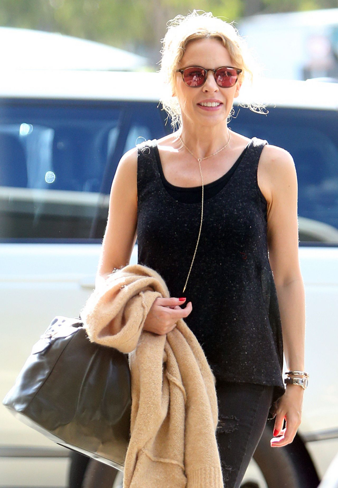 Kylie Minogue - at Perth Domestic Airport in Western Australia, March 2015