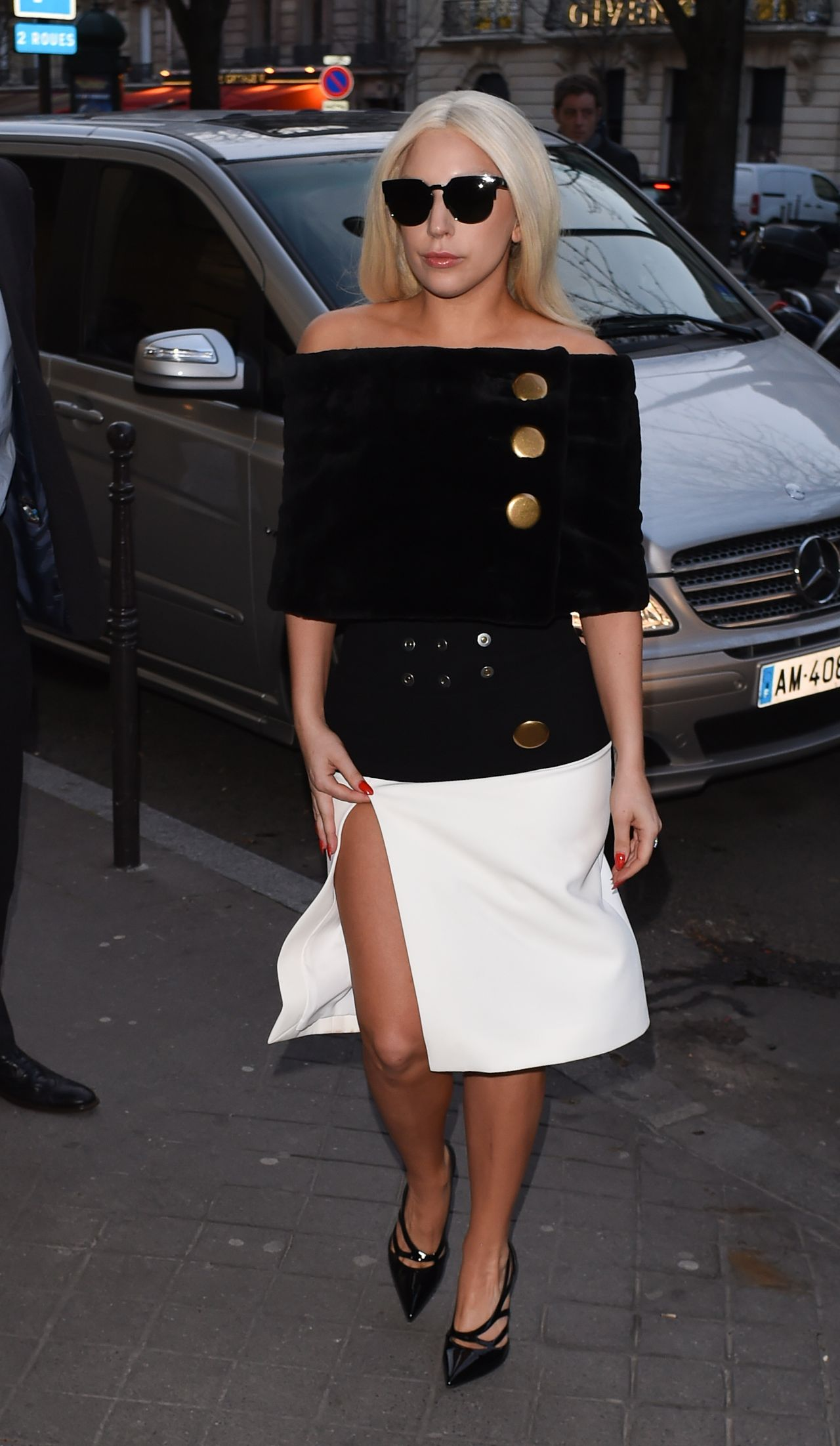 lady gaga style at the bristol hotel in paris march 2015