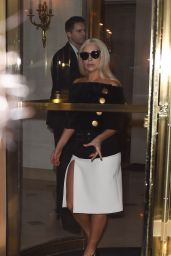 Lady Gaga Style - at the Bristol Hotel in Paris, March 2015