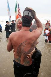 Lady Gaga & Taylor Kinney at the 2015 Polar Plunge in Chicago