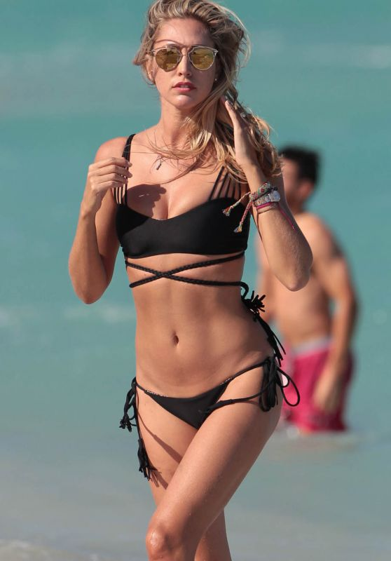 Lauren Stoner in Black Bikini in Miami, March 2015