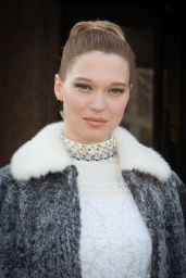 Lea Seydoux Style - Miu Miu Fashion Show in Paris, March 2015