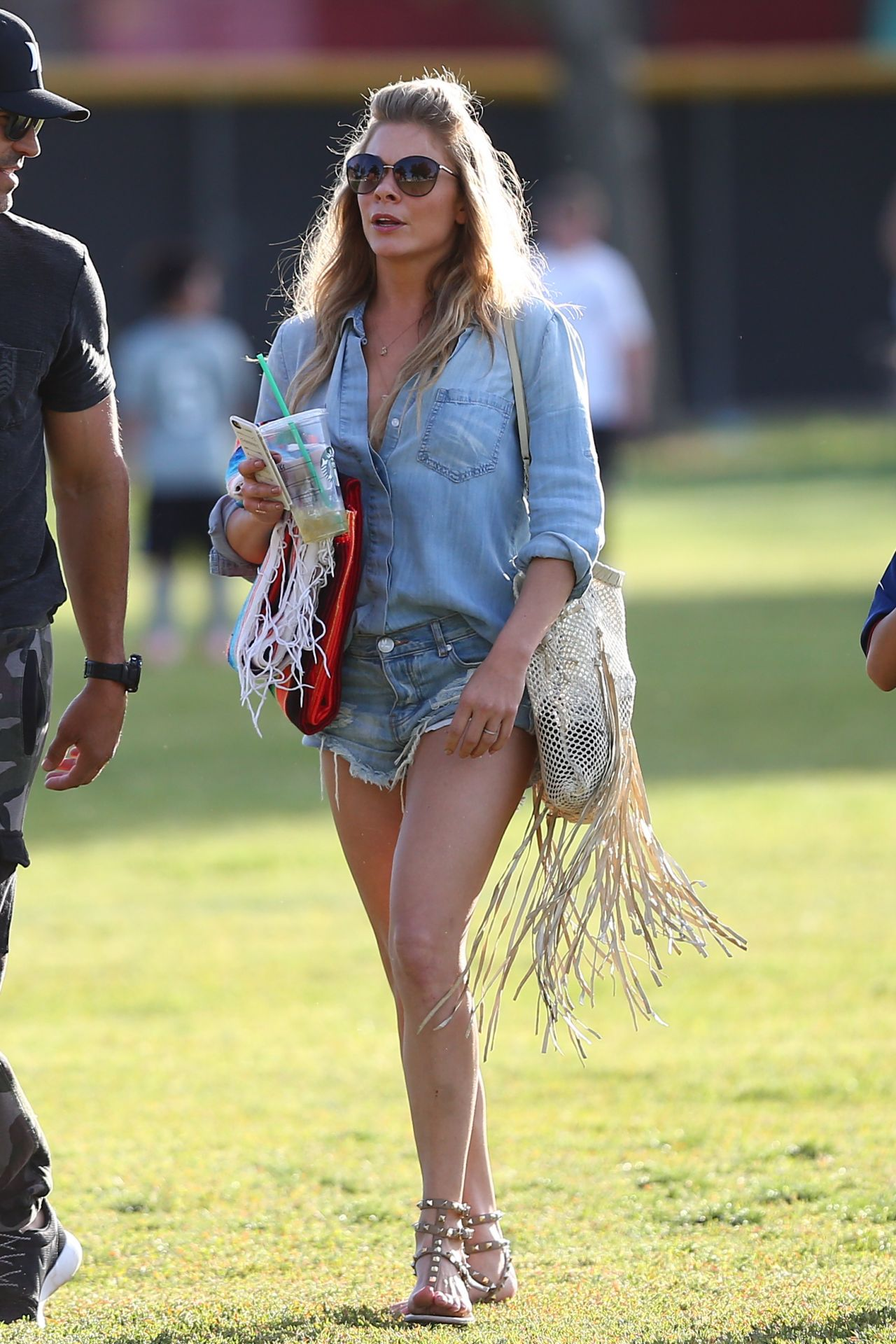 LeAnn Rimes in Denim Shorts - at Her Sons Soccer Game in Los Angeles