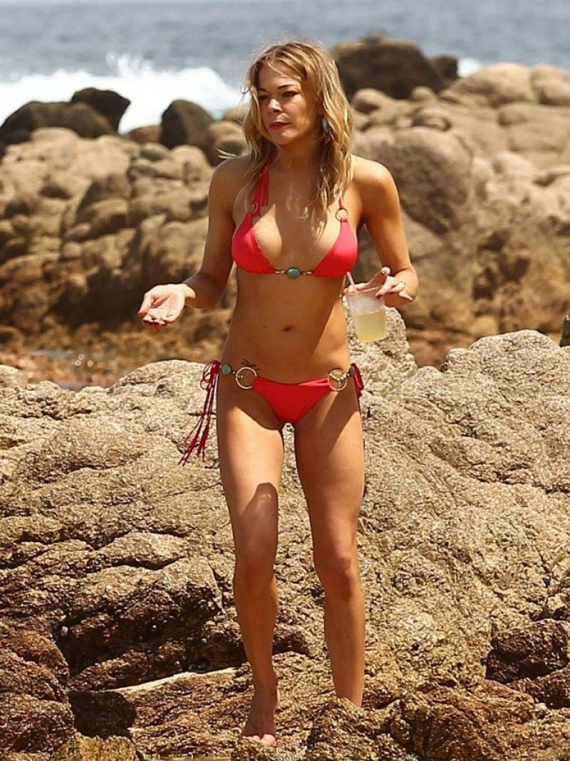 LeAnn Rimes - Red Bikini Candids, March 2015