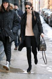 Lily Aldridge Casual Style - Out in New York City, March 2015