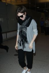 Lily Collins at LAX Airport in Los Angeles, March 2015