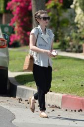 Lily Collins Casual Style - Out in Beverly Hills, March 2015