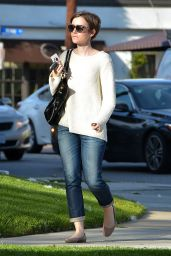 Lily Collins Casual Style - Out in West Hollywood, March 2015