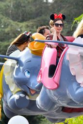 Lily Collins - Celebrating 26th Birthday at Disneyland, March 2015
