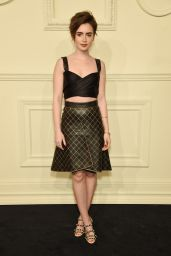 Lily Collins – CHANEL Paris-Salzburg 2014/15 Metiers d'Art Collection in New York City