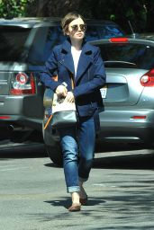 Lily Collins in Jeans - Out in West Hollywood, March 2015
