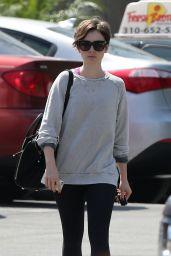 Lily Collins in Leggings - Out in West Hollywood, March 2015