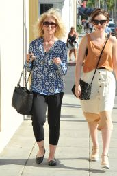 Lily Collins - Shopping With Her Mom - Rodeo Drive in Los Angeles, March 2015