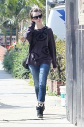 Lily Collins Street Style - Out in West Hollywood, March 2015