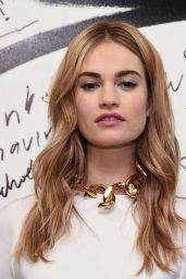Lily James - AOL BUILD Speaker Series in New York City, March 2015