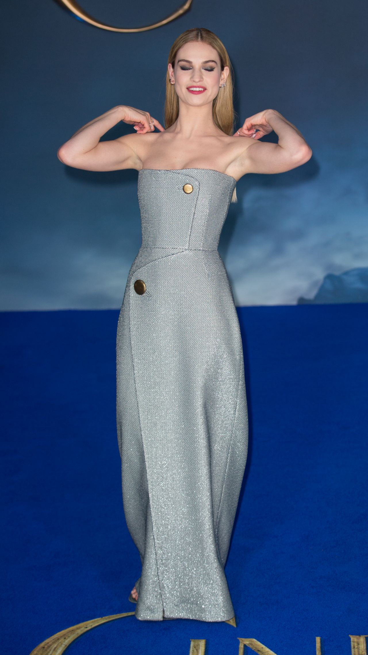 lily james disneys cinderella premiere in london