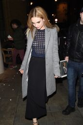 Lily James - Leaving a Party in London, March 2015