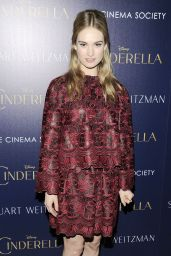Lily James - The Cinema Society Private Screening of Cinderella in New York City