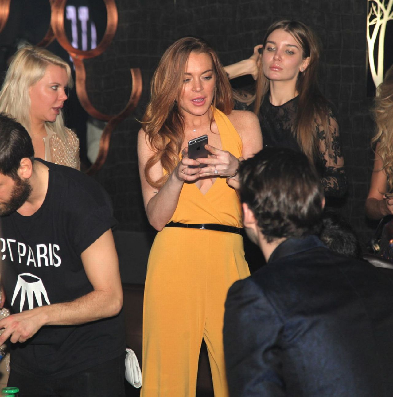 Lindsay Lohan Night Out Style - at Club 79 in Paris, March 2015