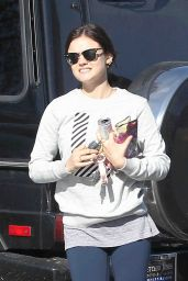 Lucy Hale Casual Outfit - Out in LA, March 2015