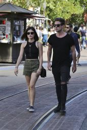 Lucy Hale in Shorts - Out in Los Angeles, March 2015