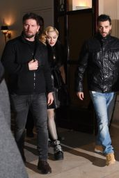Madonna Style - Arrives at Raspourtine Restaurant in Paris, March 2015