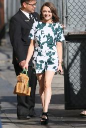 Maisie Williams - at Jimmy Kimmel Live! In Los Angeles, March 2015