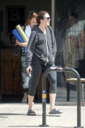 Mandy Moore Booty in Tights - Out in Los Angeles, March 2015