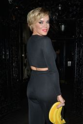 Maria Fowler Night Out Style - at Gaucho's in London - March 2015