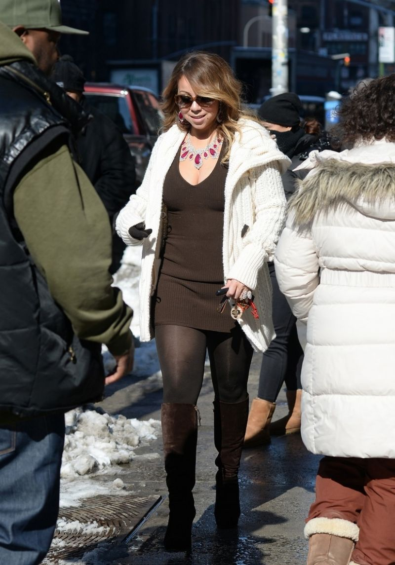 Mariah Carey Street Style Out In Nyc March 2015