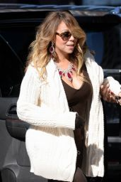 Mariah Carey Street Style - Out in NYC, March 2015