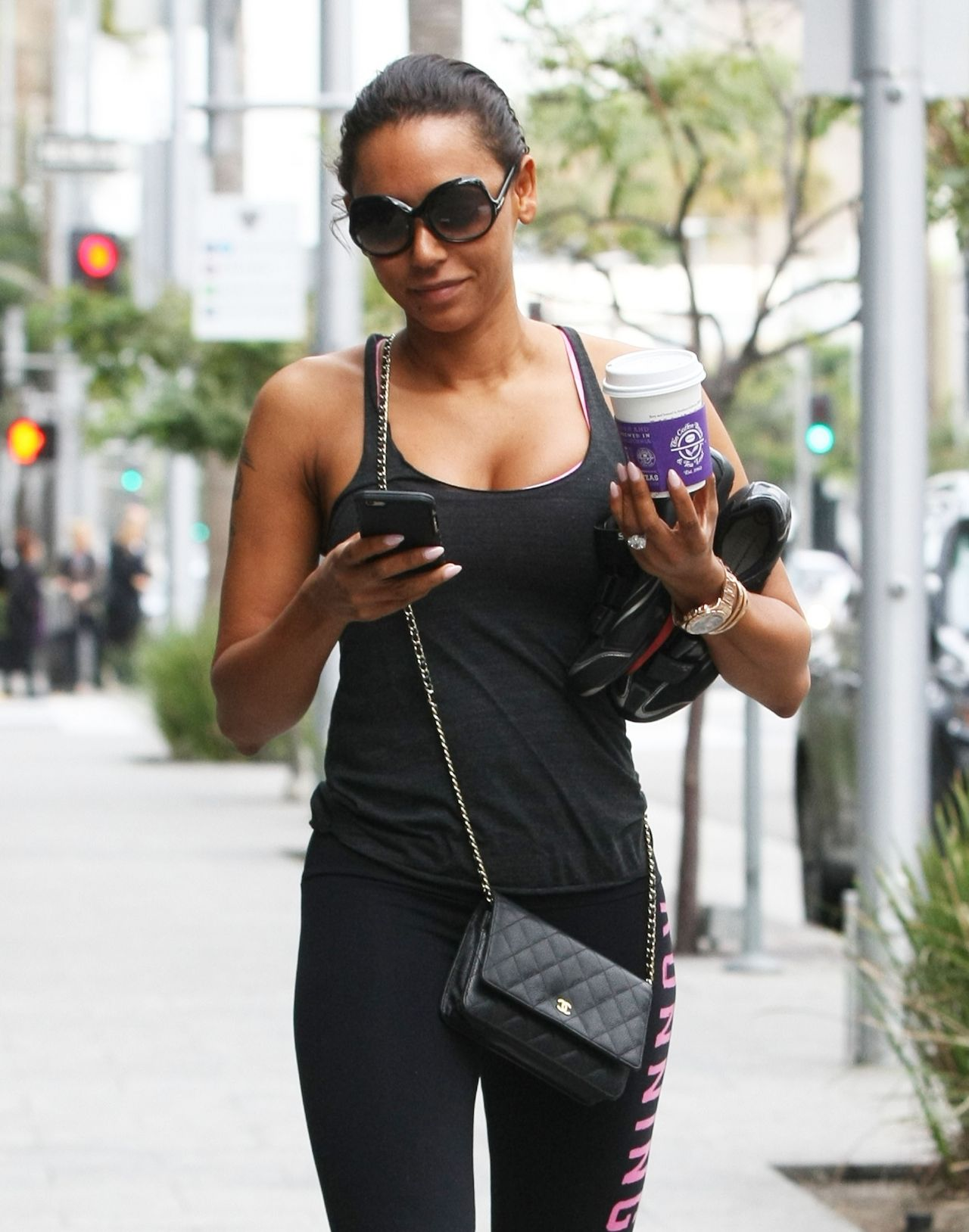 Melanie Brown - Going to a gym in Los Angeles, February 2015