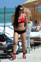Metisha Schaefer Shows Off Her Bikini Body On the Beach in Miami, March 2015