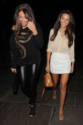 Michelle Keegan in Mini Skirt at Sheesh Restaurant in Chigwell, March 2015