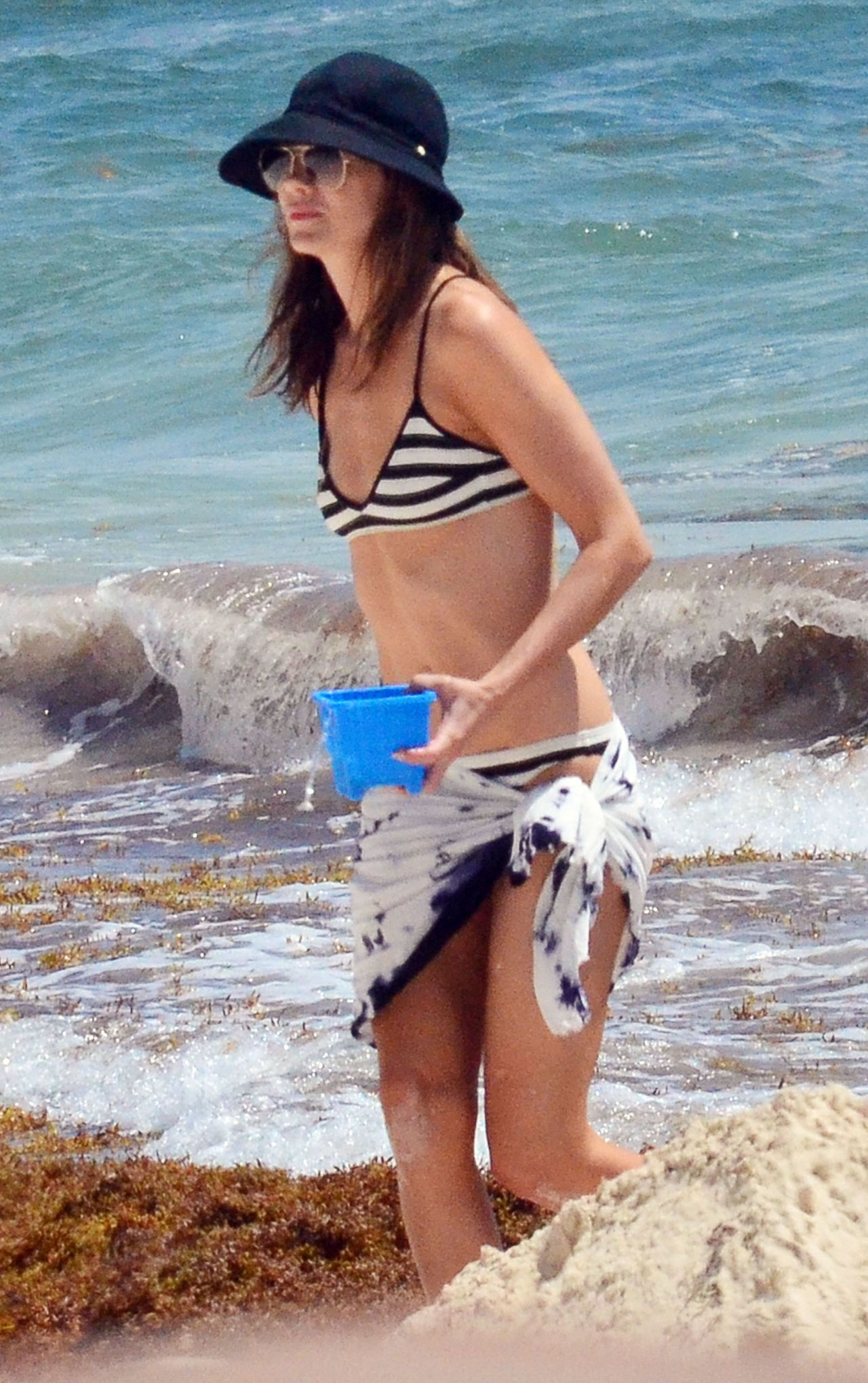 Michelle Monaghan on the Beach in Tulum, Mexico - March 2015