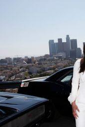 Michelle Rodriguez - Fast & Furious 7 Press Conference at Dodger Stadium in Los Angeles