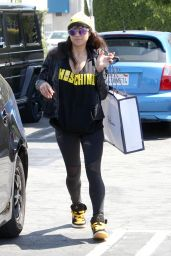 Michelle Rodriguez in Tights - Shopping in West Hollywood, March 2015