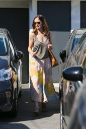 Minka Kelly - Leaving Meche Salon in Beverly Hills - March 2015