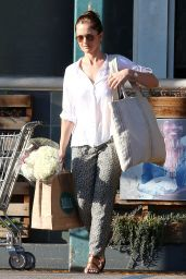 Minka Kelly Street Style - Grocery Shopping in West Hollywood, March 2015